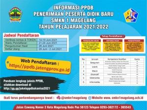 PPDB SMK NEGERI 1 MAGELANG TAHUN 2021-2022